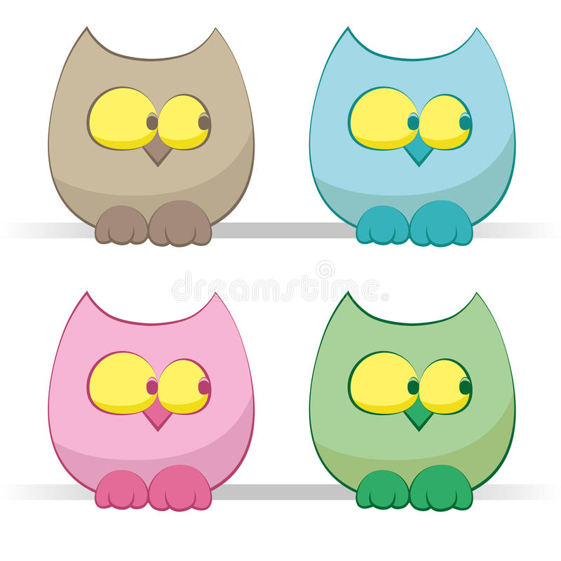 Download Owls set stock vector. Illustration of funny, wood, simply - 20278342