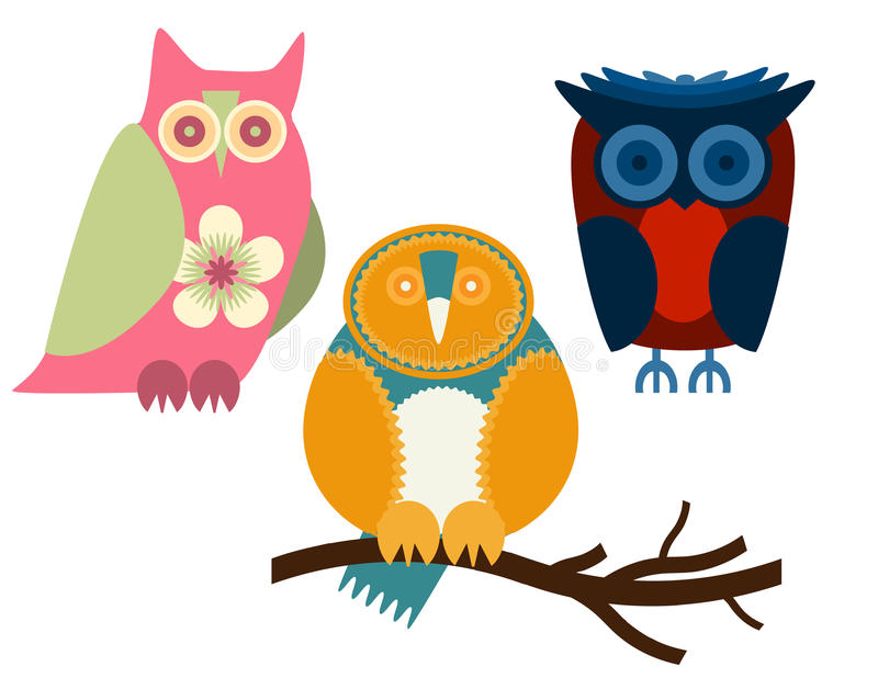 Download Owls stock vector. Image of navy, character, comic, illustration - 31226969