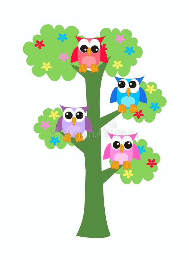 Free Owls Sitting In A Tree Stock Photography - 19839452