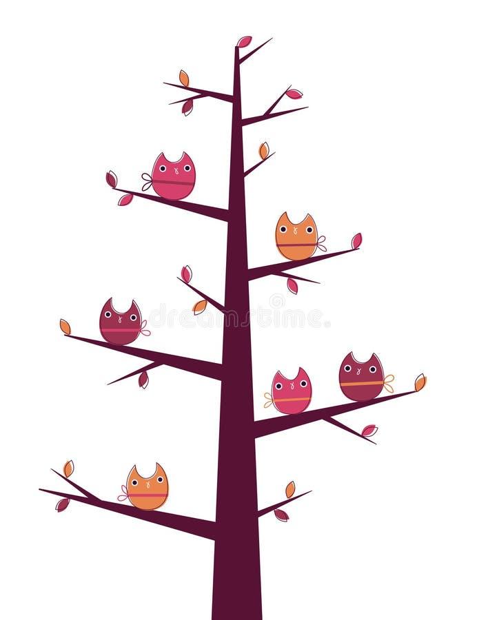 Owls tree stock photography