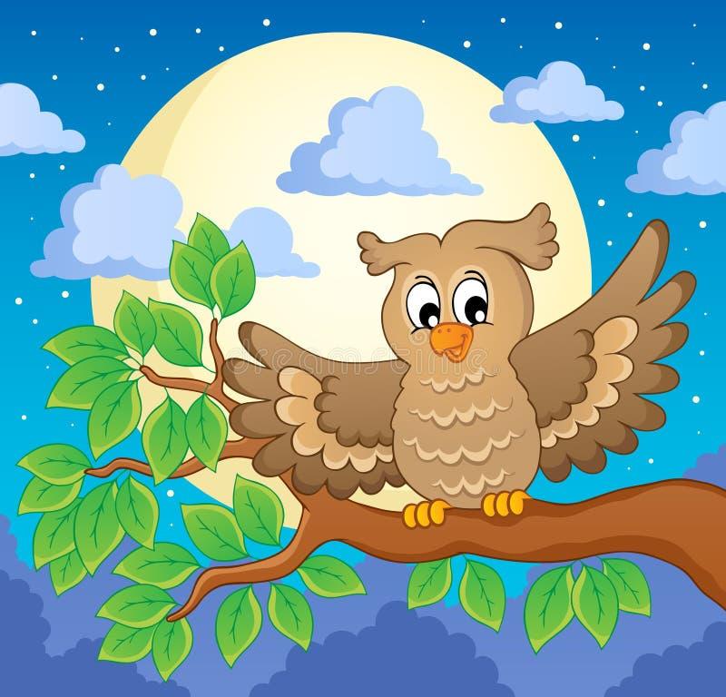 Owltemat avbildar 1 royaltyfri illustrationer