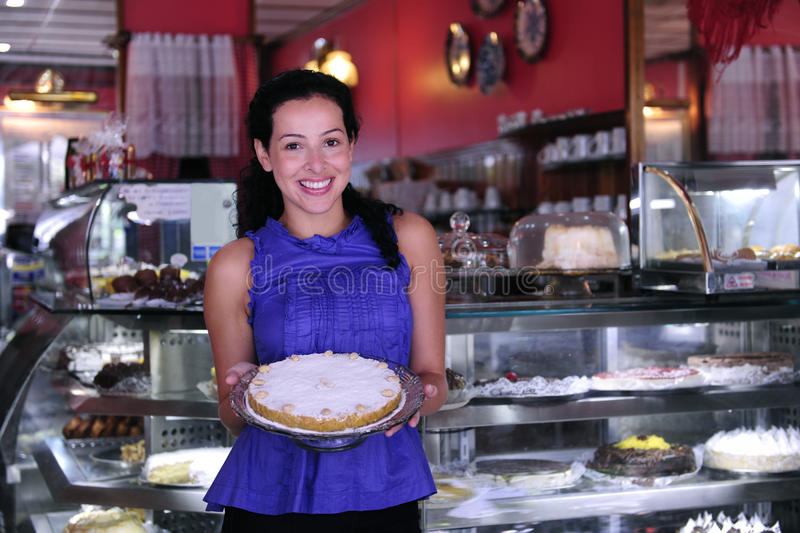 Download Owner Of A Cake Store/ Cafe Stock Photo - Image: 12830660