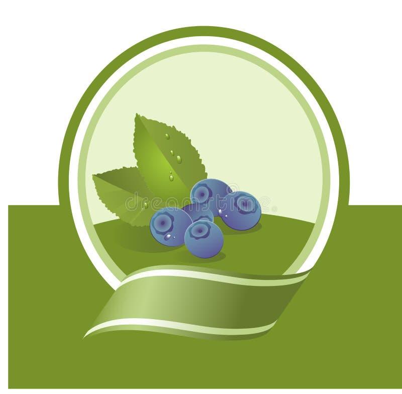 owoc świeża etykietka ilustracji