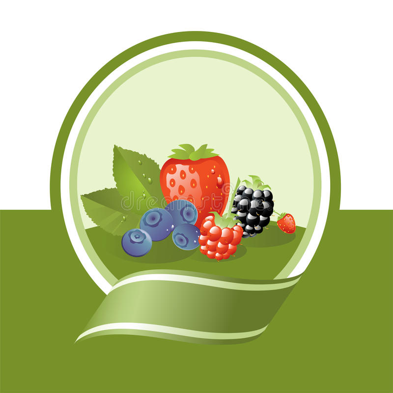 owoc świeża etykietka royalty ilustracja