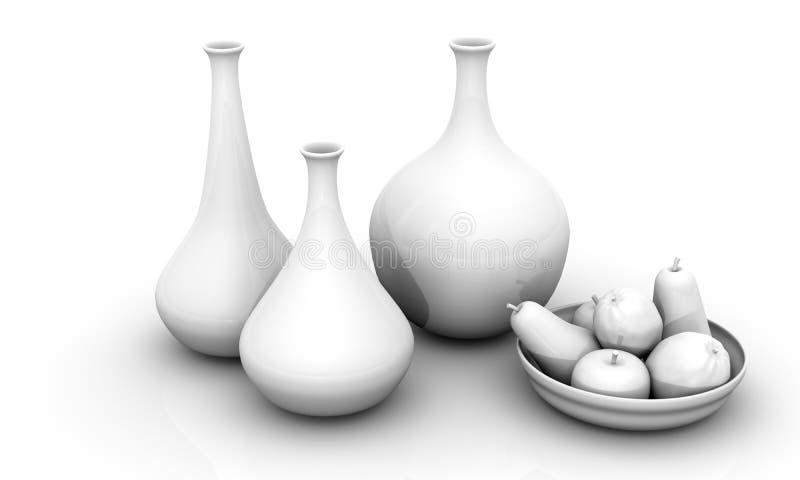 owoc życia wciąż wazy ilustracji