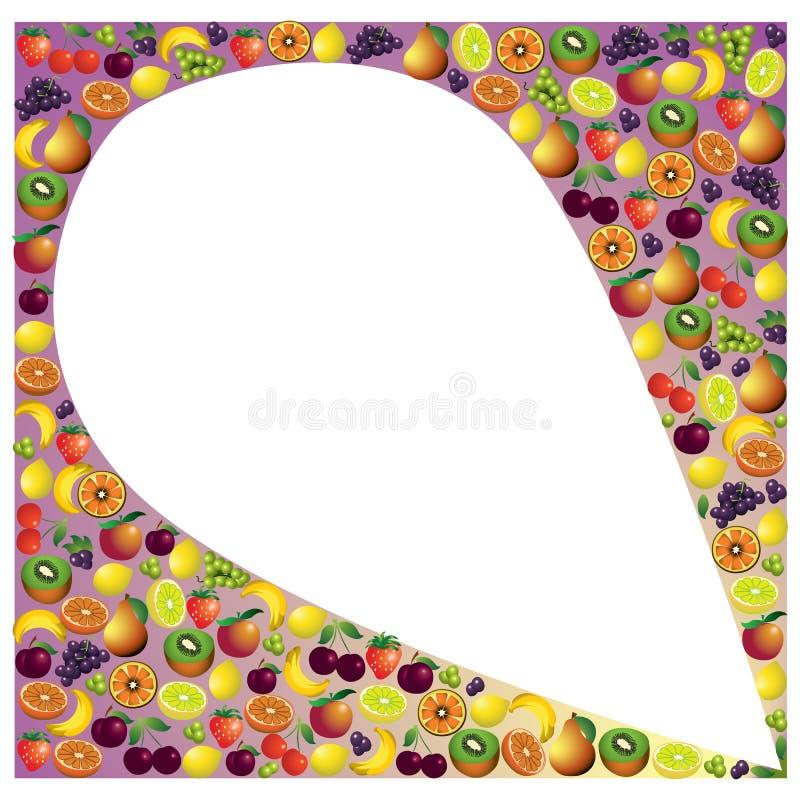 Owoc abstrakcjonistyczny skład, różny owoc ikony set ilustracji