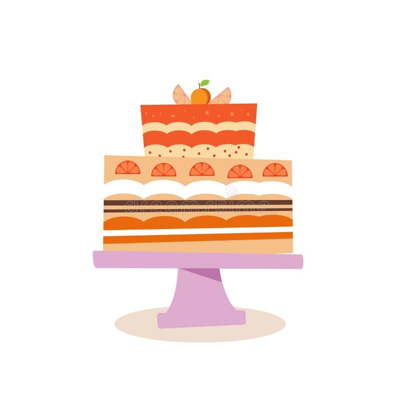 Owoc cake2 ilustracji