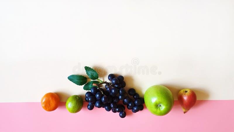 Owoc cytrusa mandarynu wapna zieleni koloru żółtego Gronowych Jabłczanych menchii tła pojęcia wciąż życia weganinu Eco b ilustracji