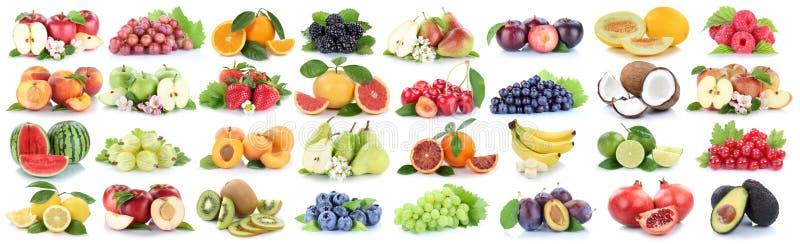Owoc cytryny owocowe inkasowe świeże pomarańczowe jabłczane jagody odizolowywają obraz royalty free