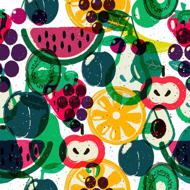 owoc deseniują bezszwowego ilustracji