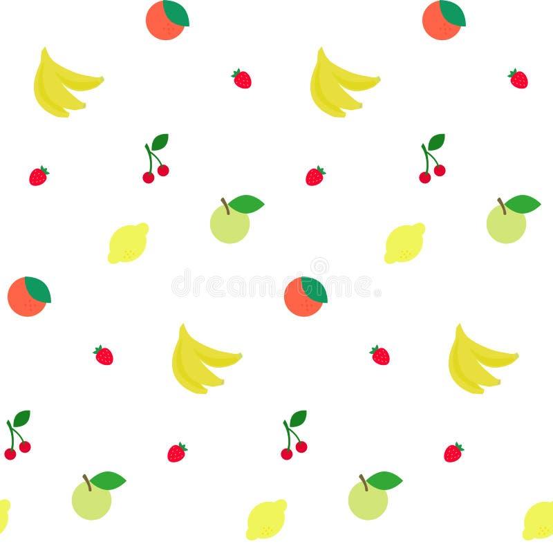 owoc deseniuj? bezszwowego ilustracja wektor