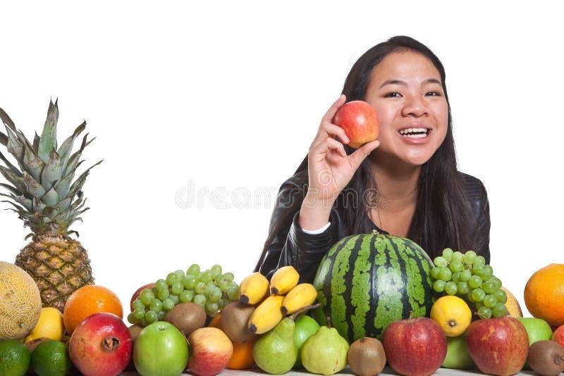 Owoc i dziewczyna fotografia stock