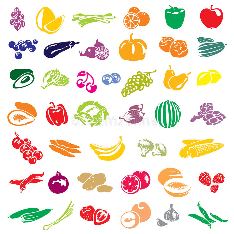 Owoc i warzywo royalty ilustracja
