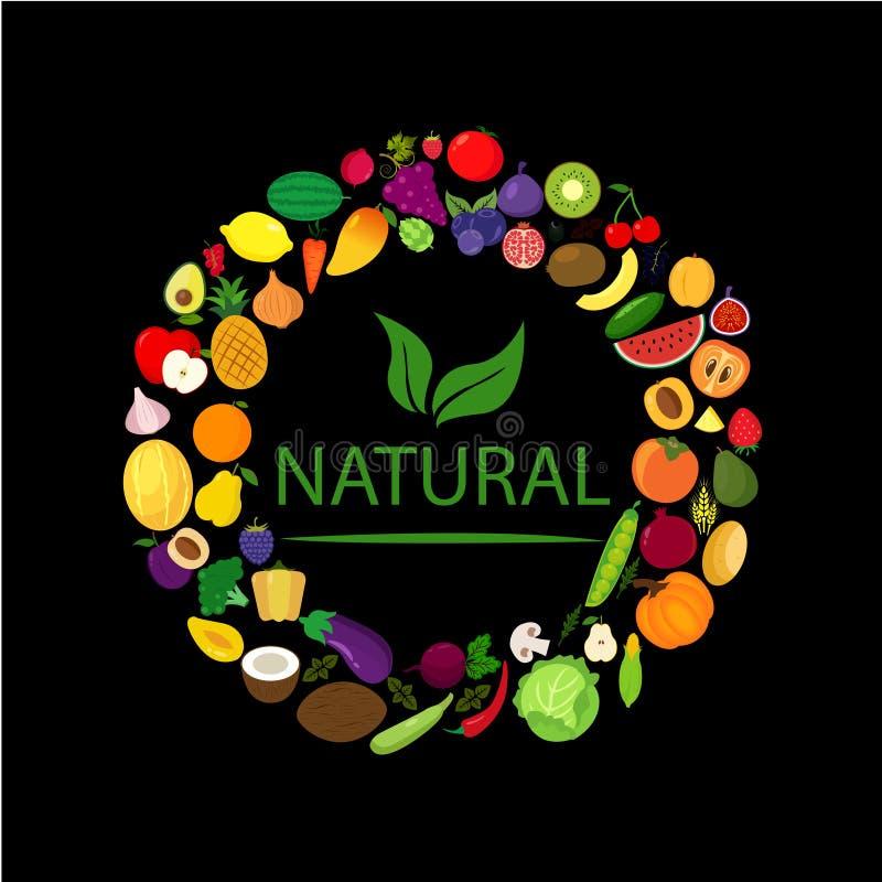 Owoc i warzywo jagody ilustracji