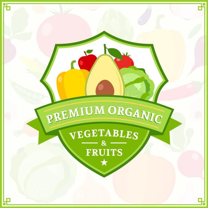 Owoc I Warzywo logowie, owoc i warzywo ikony i Desi, royalty ilustracja