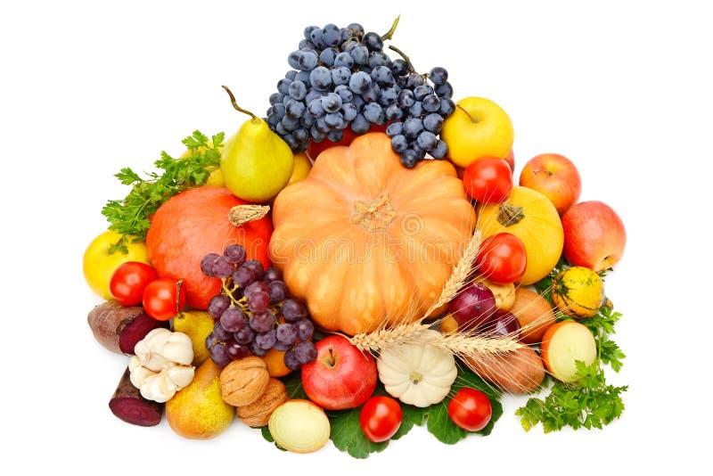 Owoc i warzywo odizolowywaj?cy na bia?ym tle obraz royalty free