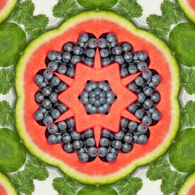 Owoc i warzywo w mandala royalty ilustracja