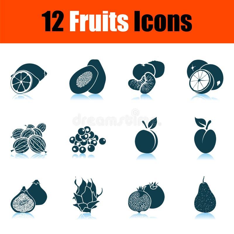 Owoc ikony set ilustracji