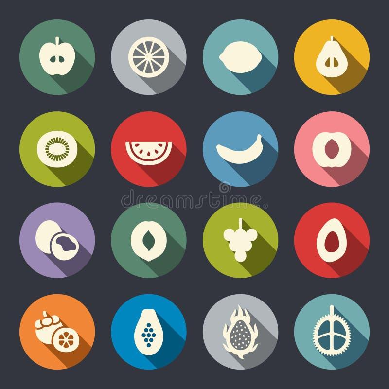 Owoc ikony set również zwrócić corel ilustracji wektora ilustracji