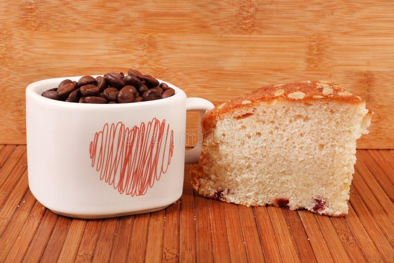 Owoc kawa i tort obrazy stock