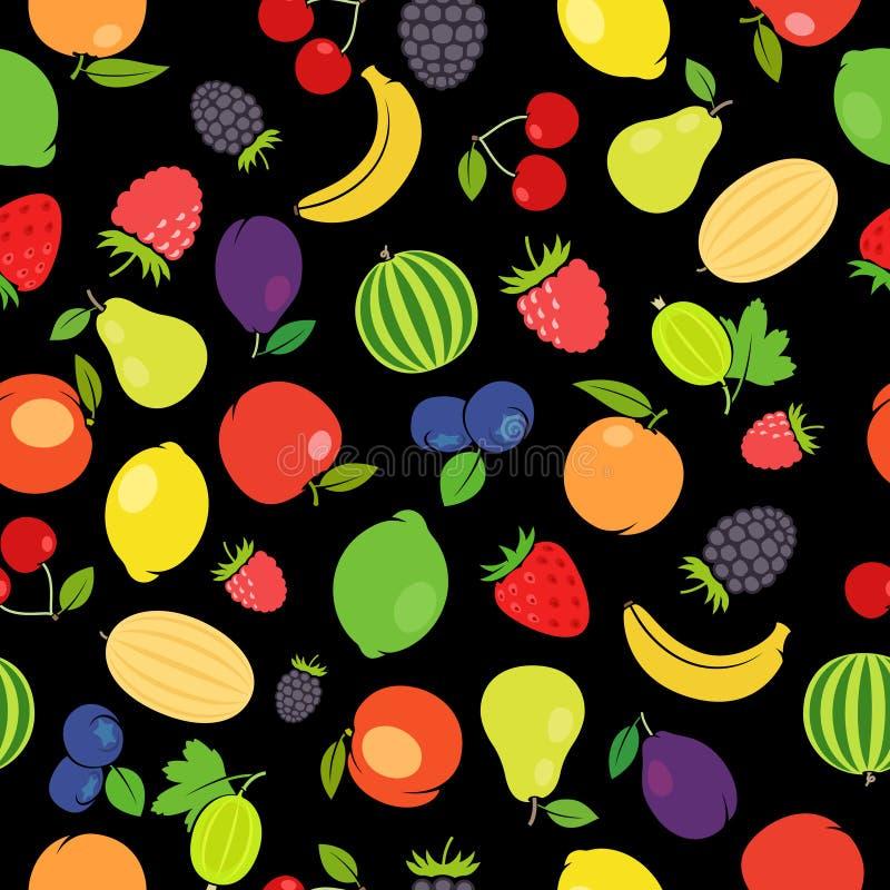 Owoc kolorowy bezszwowy wzór ilustracji