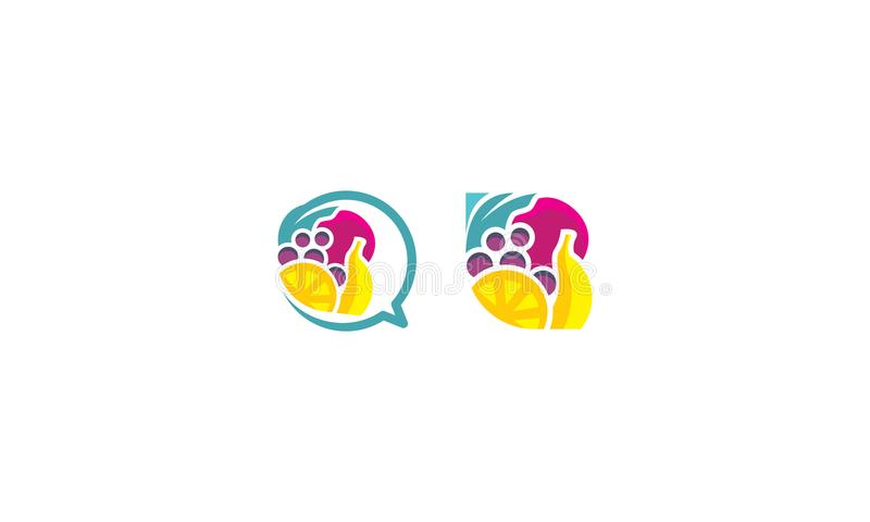 Owoc loga wektoru ikona royalty ilustracja