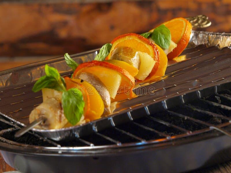 owoc piec na grillu obraz stock