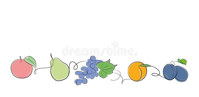 Owoc Tło dla twój projekt prac owoce występować samodzielnie również zwrócić corel ilustracji wektora royalty ilustracja