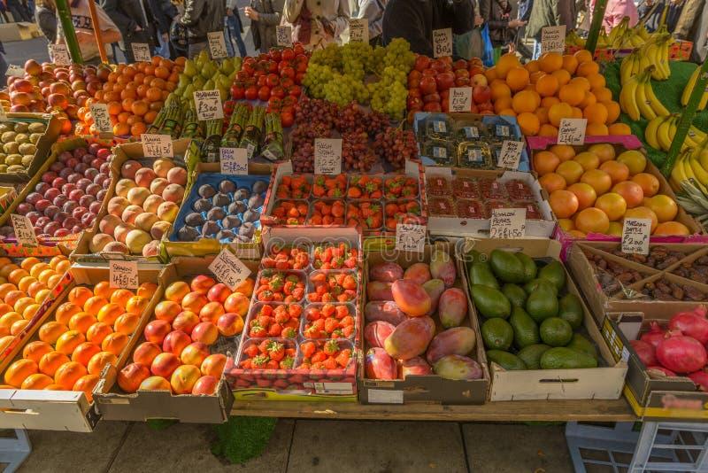 Owoc w Portobello rynku w Notting wzgórzu obraz stock