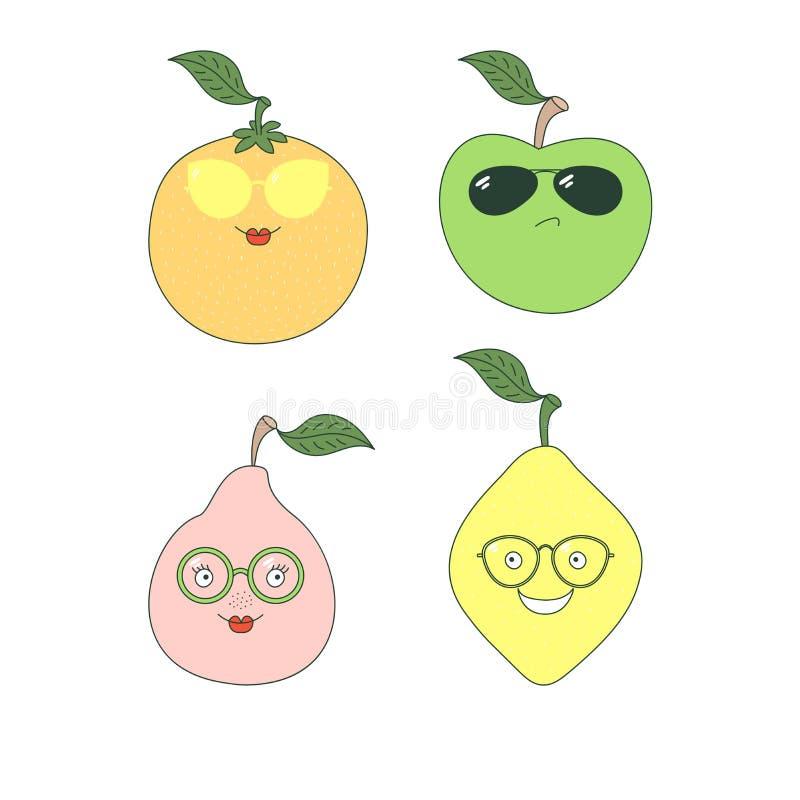 Owoc w szkło majcherach ilustracji