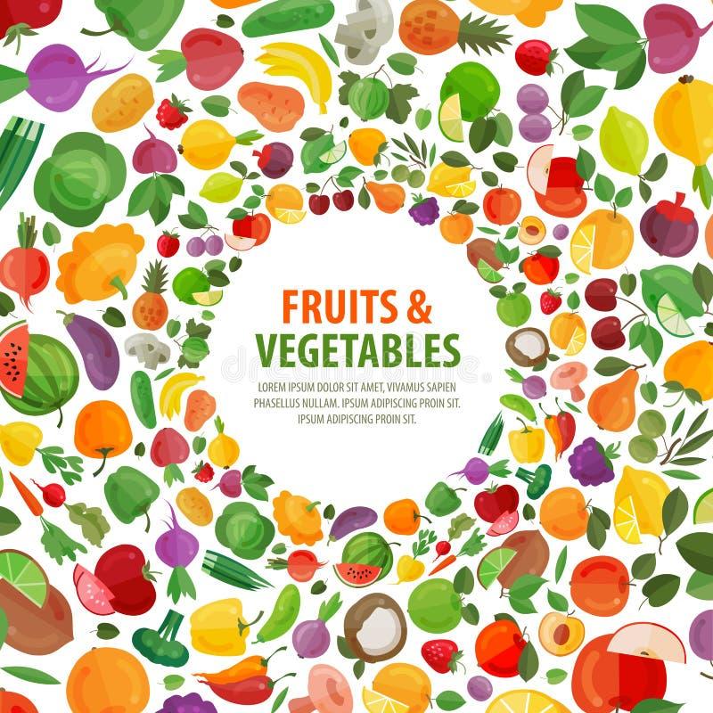 Owoc, warzywo loga projekta wektorowy szablon ilustracja wektor