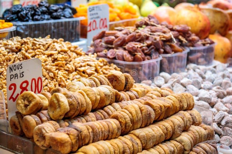owoc wysuszony rynek zdjęcie royalty free