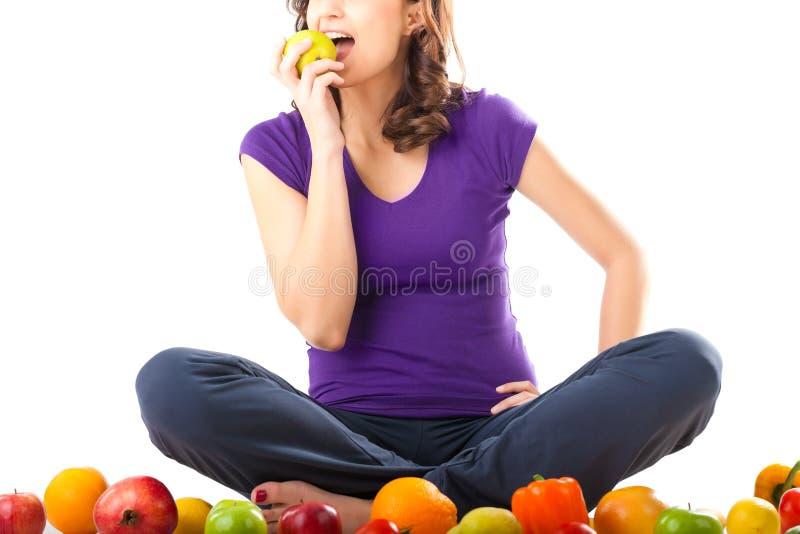 owoc zdrowi odżywiania kobiety potomstwa zdjęcia royalty free