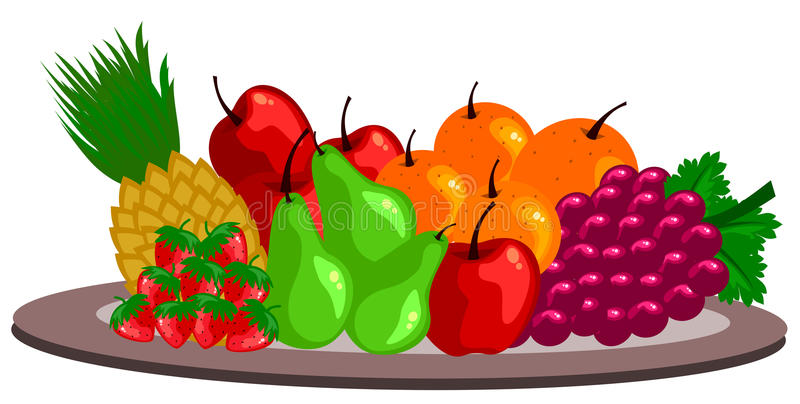 owoce royalty ilustracja