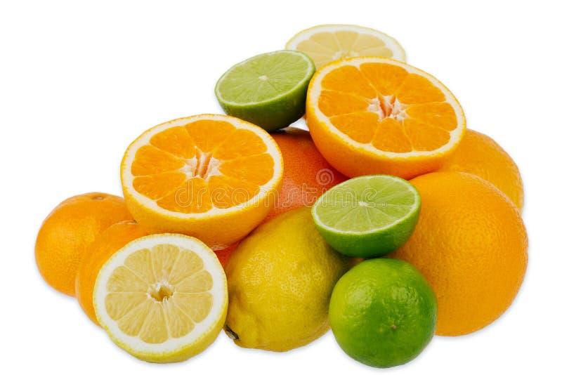 owoce cytrusowe cytryn lime pomarańcze zdjęcia stock