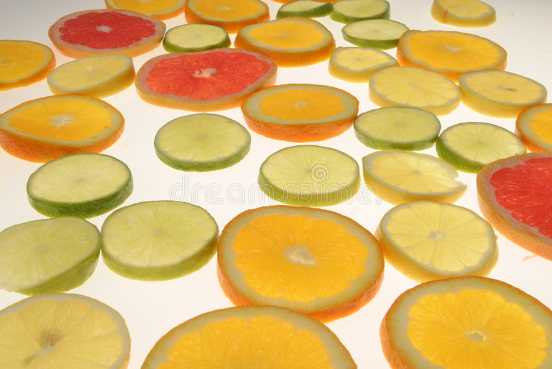 owoce cytrusowe plasterki zdjęcie royalty free