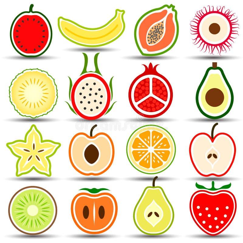 owoce ikony ilustracja wektor