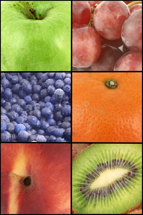 owoce kolaż zdjęcie stock