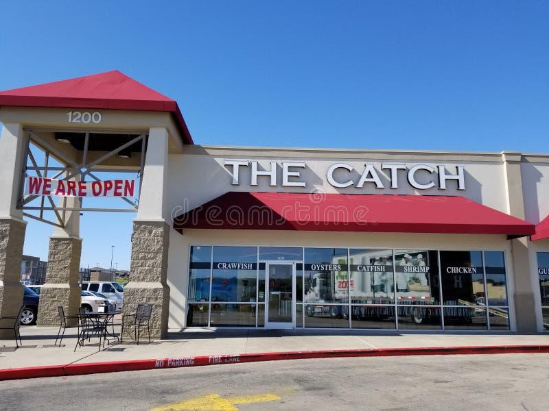 Owoce morza kawiarnia chwyt w Killeen, Teksas obraz stock