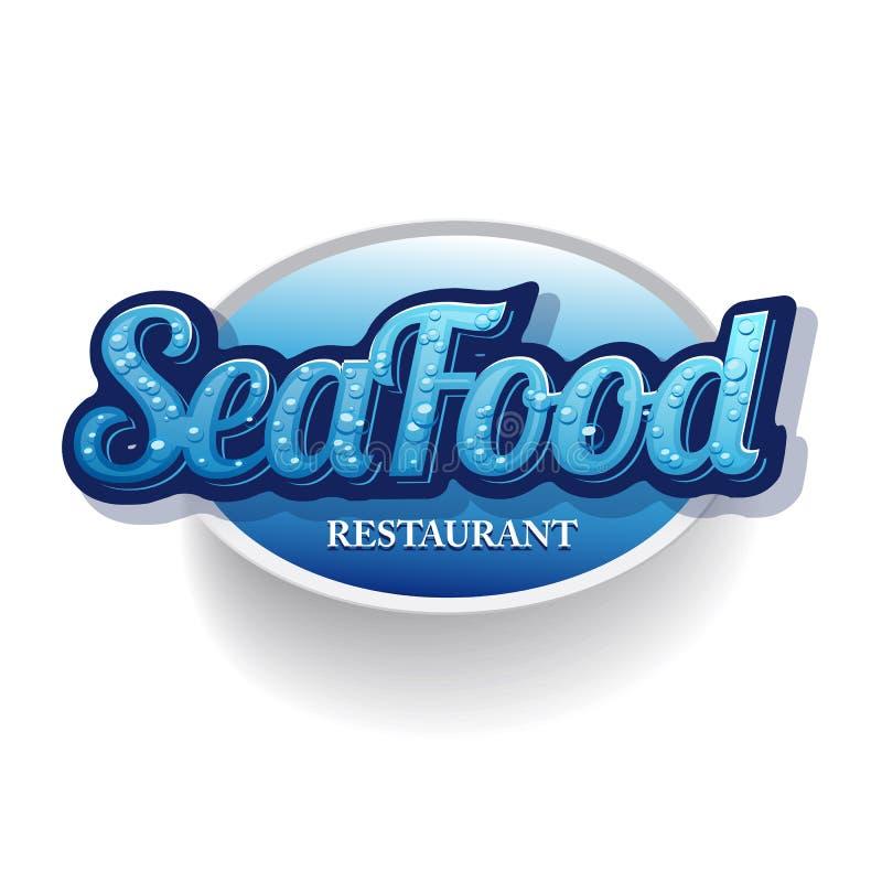 Owoce morza menu restauracja ilustracji