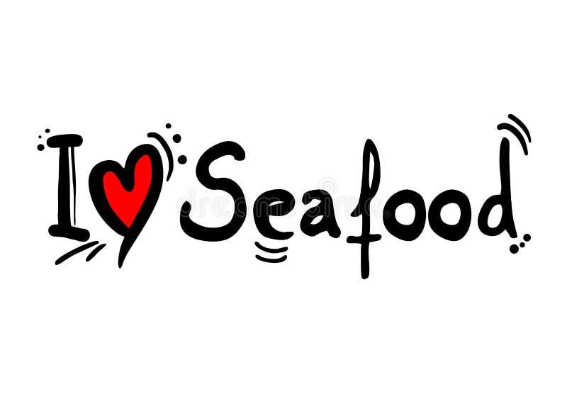 Owoce morza miłości wiadomość ilustracja wektor