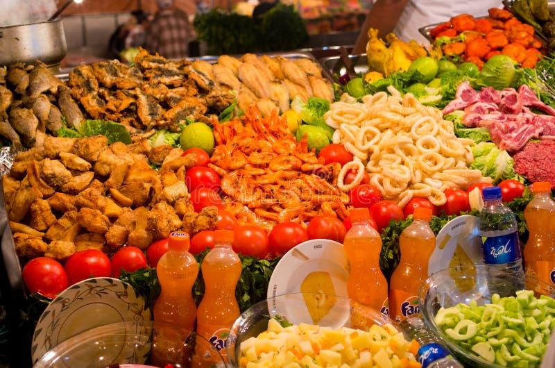 Owoce morza na rynku w Marrakech, Maroko obraz royalty free