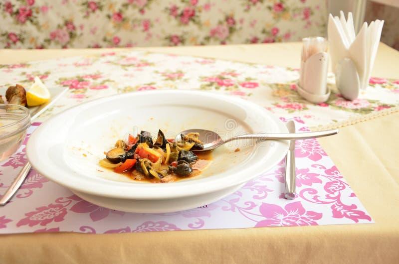 Owoce morza naczynia makaron wyśmienicie fotografia stock