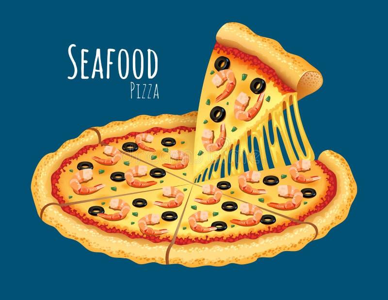 Owoce morza pizza royalty ilustracja