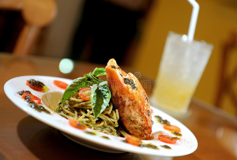 owoce morza spaghetti fotografia stock