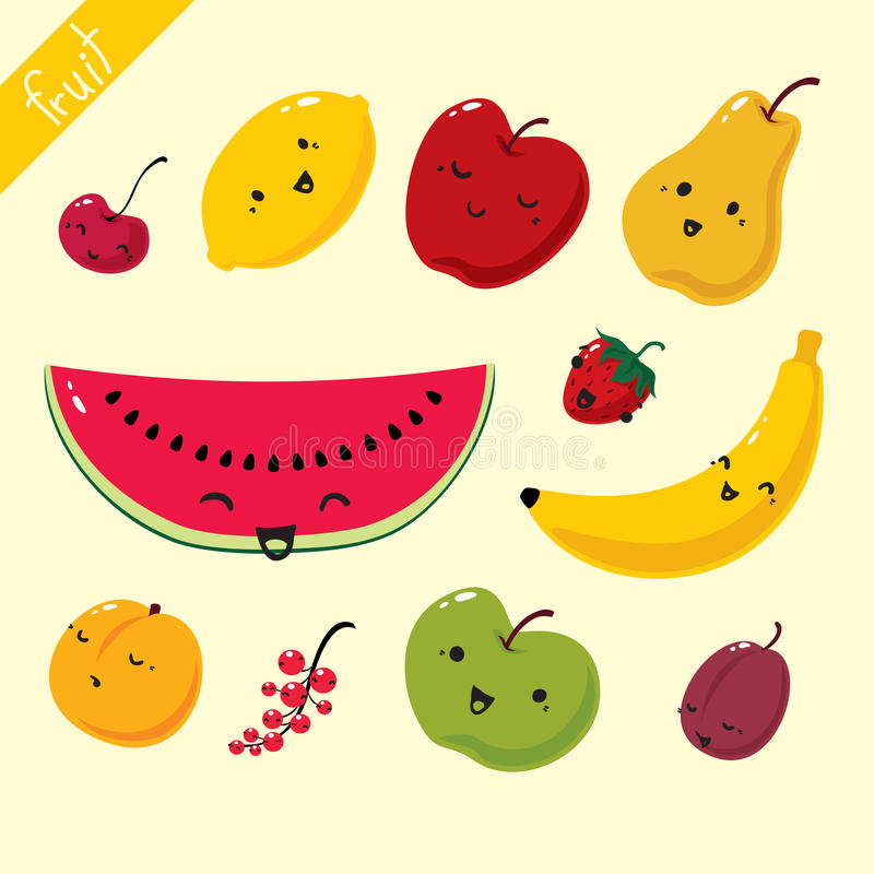 owoce owoc ustawiający wektor ilustracja wektor