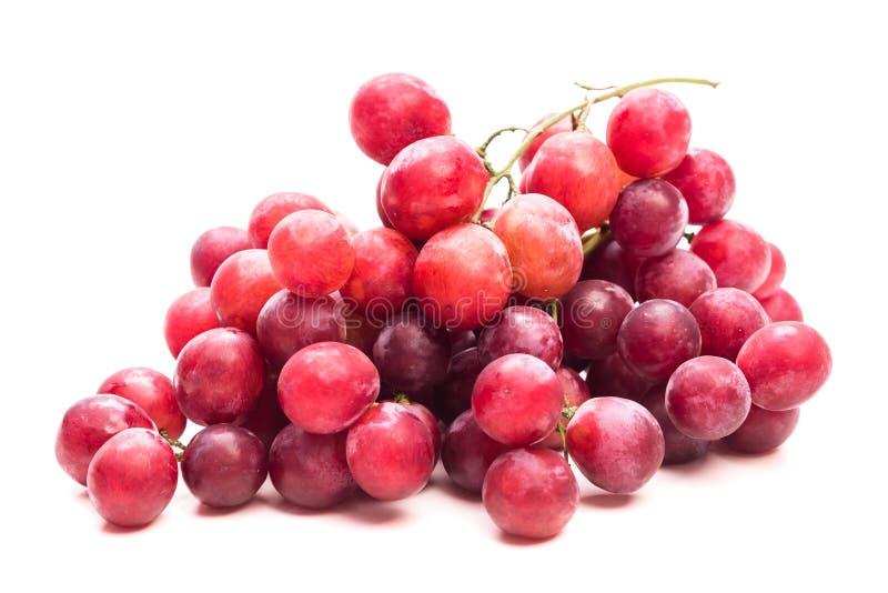 owoce R??owi winogrona wi?zka Odizolowywa na bia?ym tle zdjęcia stock