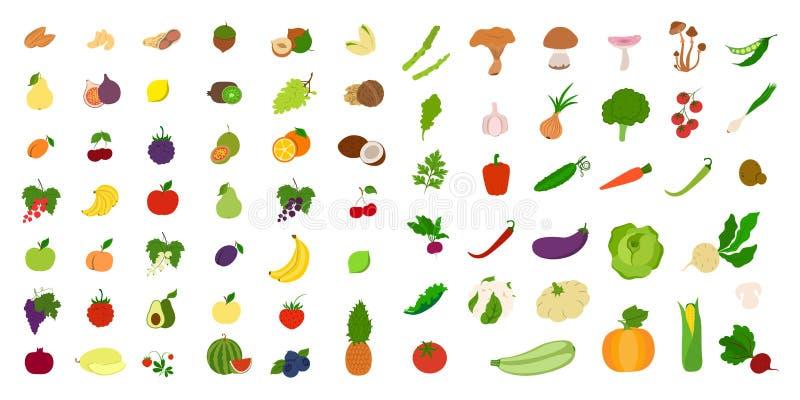 owoce, warzywa ilustracji
