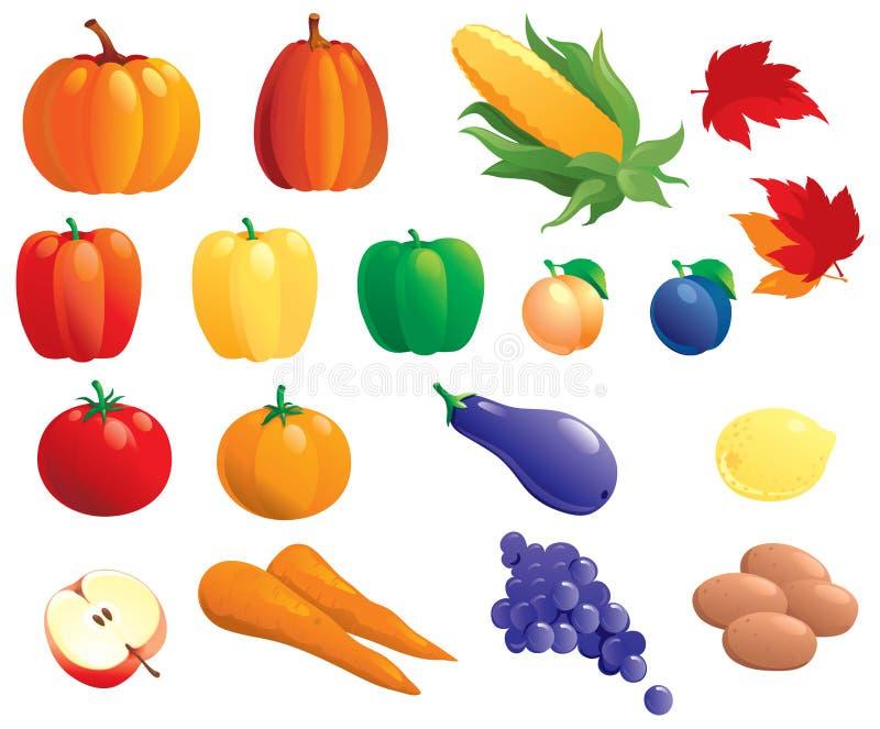 owoce, warzywa ilustracja wektor