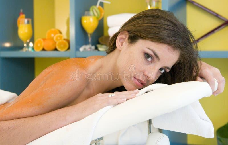 owocowa dostaje masażu zdroju kobieta fotografia stock